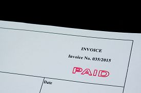 Paid Invoice With Paid Stamp