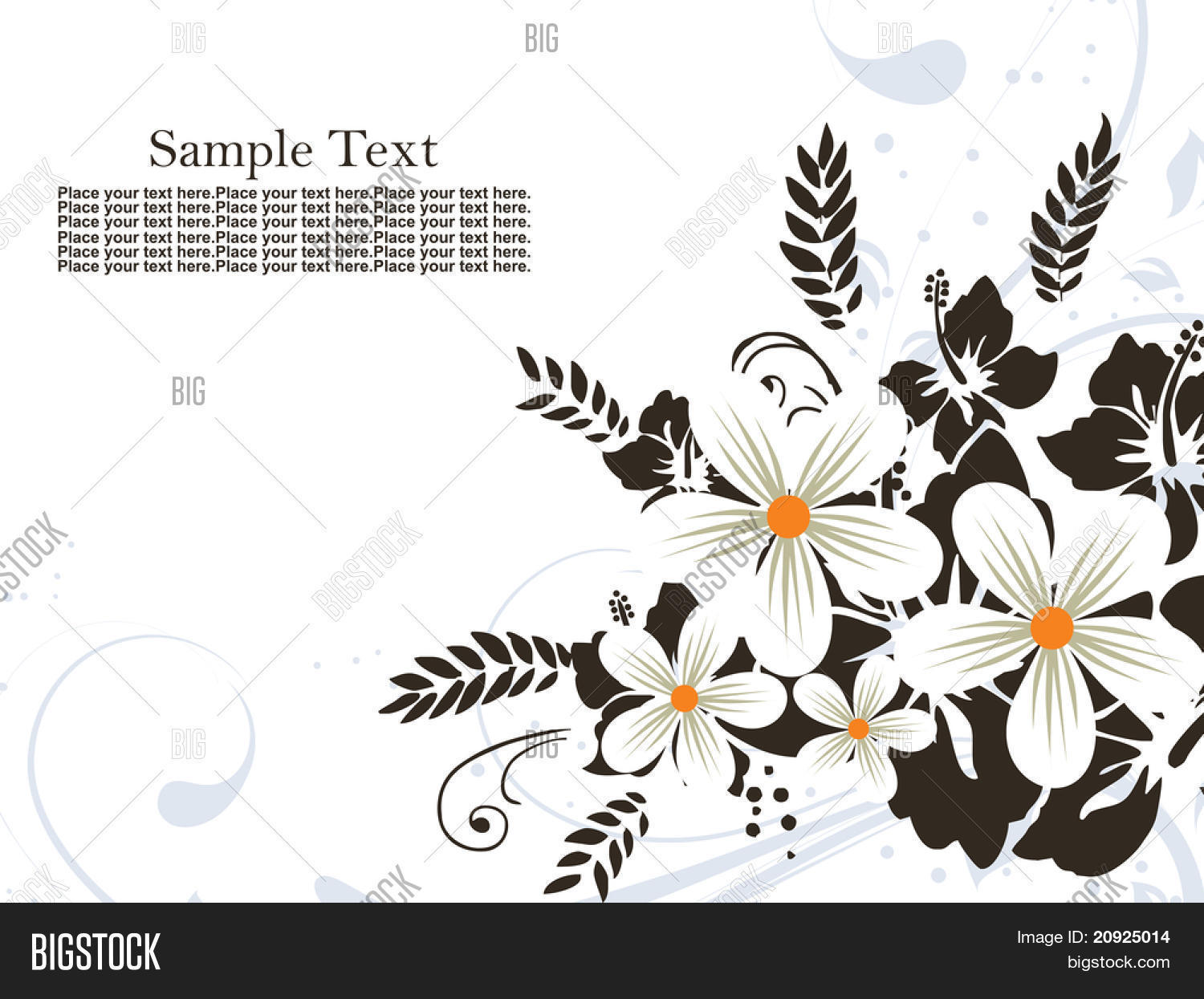 Black white flower vector photo free trial bigstock black and white flower pattern background with sample text mightylinksfo
