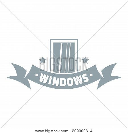 Exterior emblem logo. Gray monochrome illustration of exterior emblem vector logo for web