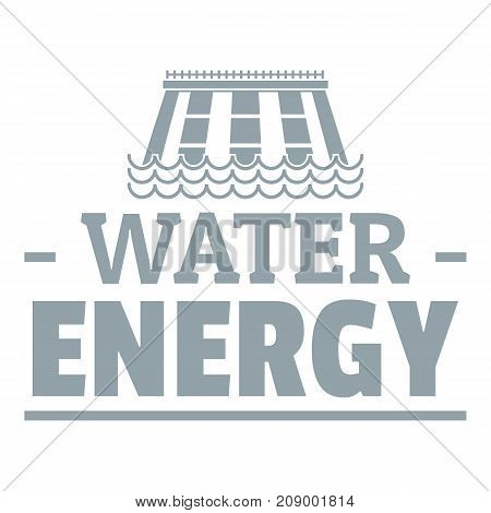 Drop water energy logo. Simple illustration of drop water energy vector logo for web