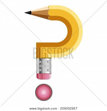 Sign question mark pencil icon. Cartoon illustration of sign question mark pencil vector icon for web