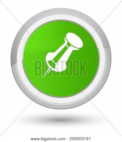 Push Pin Icon Prime Soft Green Round Button