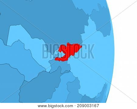 Map Of Kyrgyzstan In Red