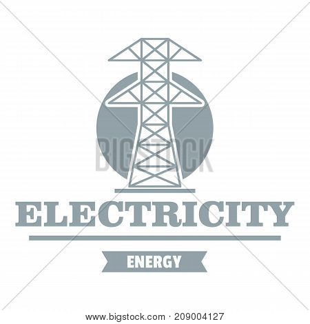 Power station logo. Simple illustration of power station vector logo for web