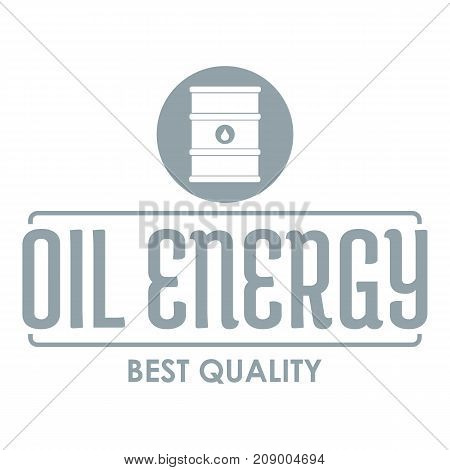 Barrel oil logo. Simple illustration of barrel oil vector logo for web