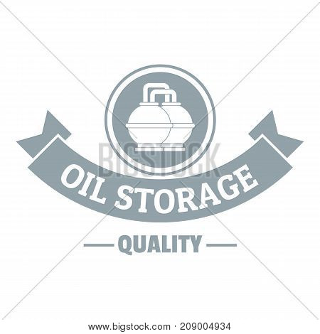 Oil storage logo. Simple illustration of oil storage vector logo for web