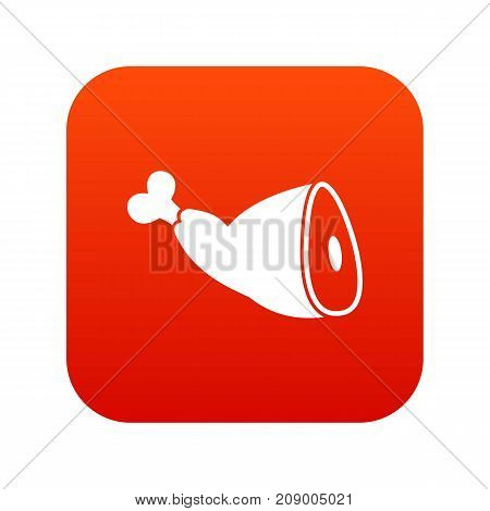 Roast pork knuckle icon digital red for any design isolated on white vector illustration
