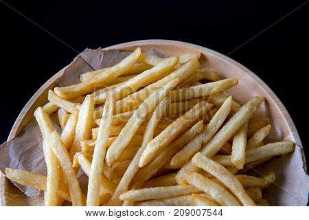 Fresh Potatoes Tasty French Fries With Ketchup Fast Food Products
