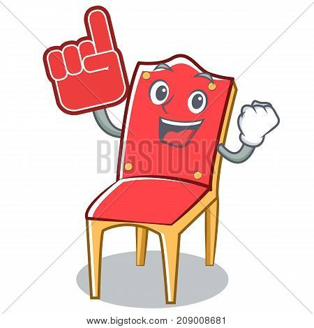 Foam finger chair character cartoon collection vector illustration