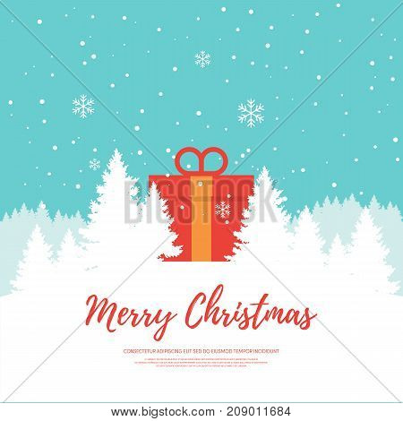 Merry Christmas design element template can be used for background poster backdrop brochure leaflet publication vector illustration
