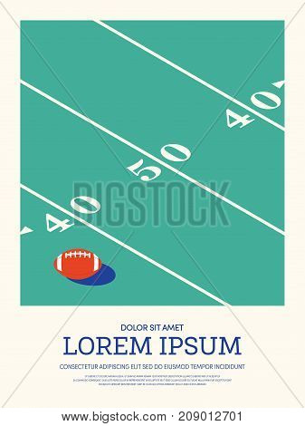 Football rugby abstract sport vintage retro style poster background vector illustration