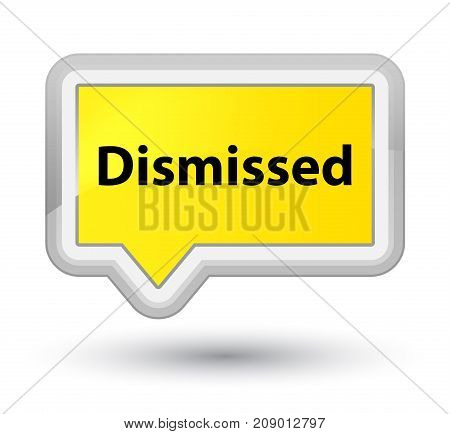 Dismissed Prime Yellow Banner Button