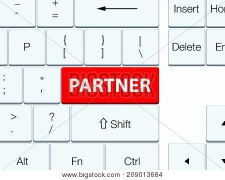 Partner Red Keyboard Button