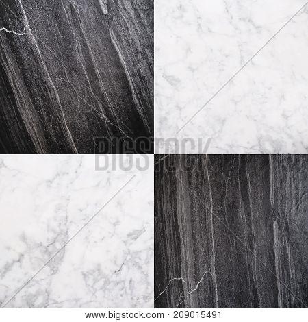 Black and White Marble Stone Tile, Seamless Stone Texture Background