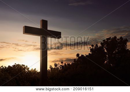 The Cross Symbol Of Christian At Outdoor