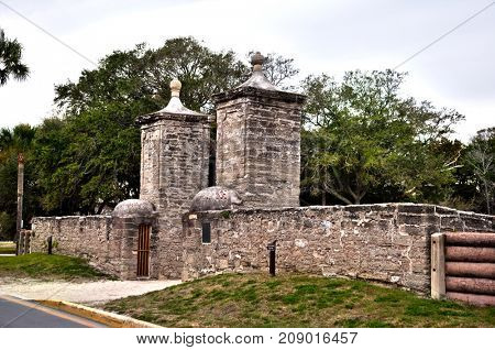 Gate in Historic St. Augustine, Florida.USA.