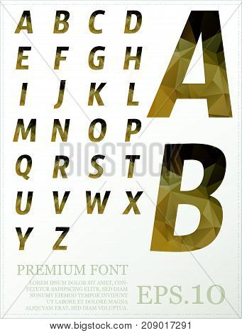 Set Of Font Vector Design Lowpoly Style Colorful Eps.10