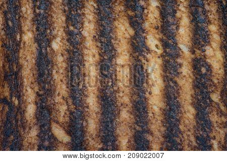 Detailed Close up of burnt toast background