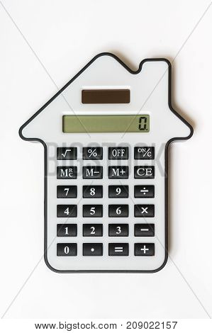 Calculator On White - Real Estate, Lease And Mortgage Concept