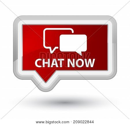 Chat Now Prime Red Banner Button