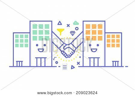 B2B - Business To Business Concept Illustration
