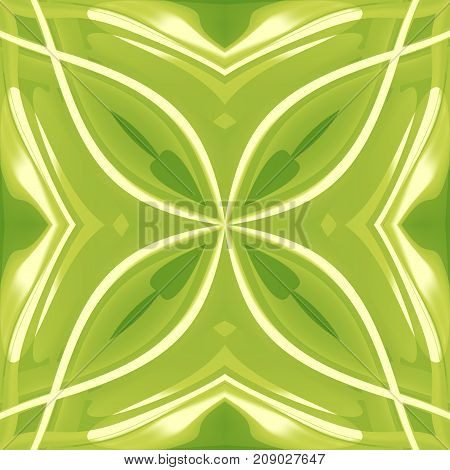 Green abstract clover texture. Simple background illustration. Home decor fabric design sample. Seamless tile. Tileable motif for pillows, cushions, tablecloths, wrapping paper. Textile print pattern.