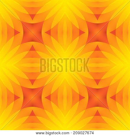 Red orange yellow abstract texture. Seamless tile. Optimistic and energetic background illustration. Home decor fabric design sample. Textile print pattern. Motif for pillows, cushions, tablecloths