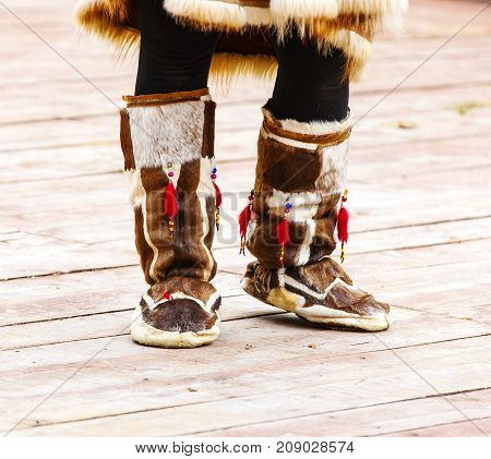 winter shoes for natives of Kamchatka .