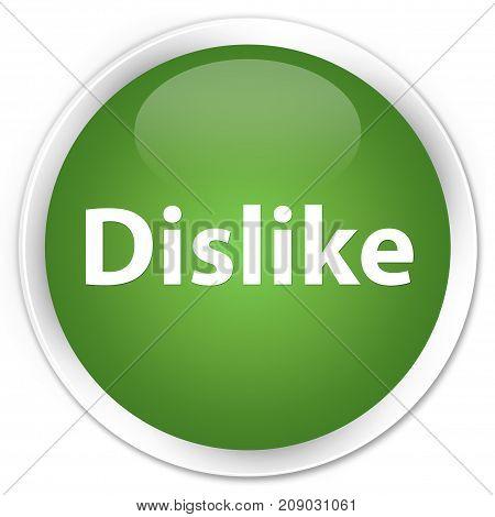 Dislike Premium Soft Green Round Button