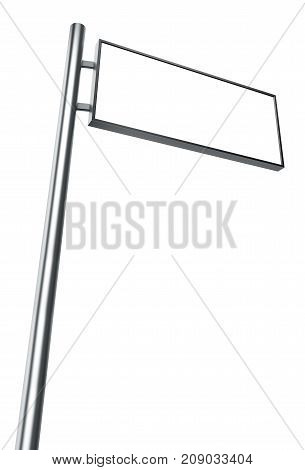 Blank sign isolated on white background - 3D Rendering