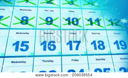 Cheerful And Bright Calendar Dates