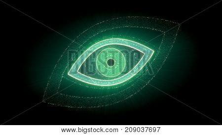 Eye Shaped Cpu Virtual Presentation