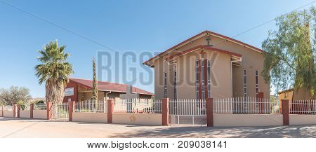 REHOBOTH NAMIBIA - JUNE 14 2017: The Methodist Church in Rehoboth a town in the Hardap Region of Namibia
