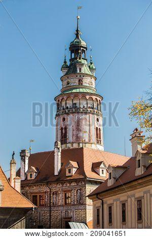 Castle in a sunny day. South Bohemia, Czech Republic.