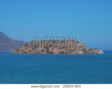 The island of Spinalonga (Leper colony) Crete Greece