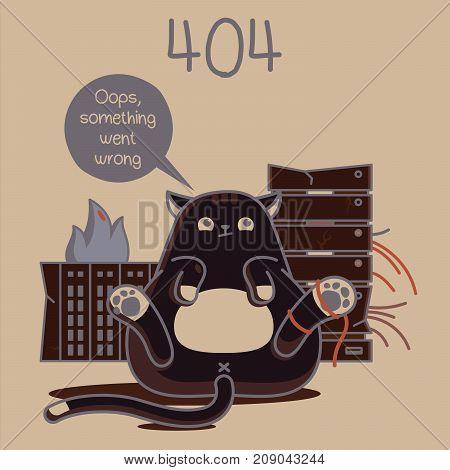 error web page. error 404. fanny cats