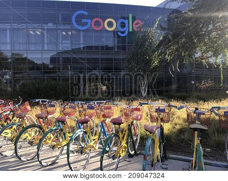 MOUNTAIN VIEW, CA (October 14, 2017) - An exterior photo of the Google headquarter also known as