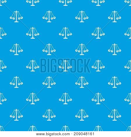 Carnival swing ride pattern repeat seamless in blue color for any design. Vector geometric illustration