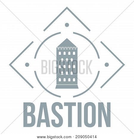 Bastion logo. Simple illustration of bastion vector logo for web