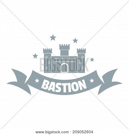 Building bastion logo. Simple illustration of building bastion vector logo for web