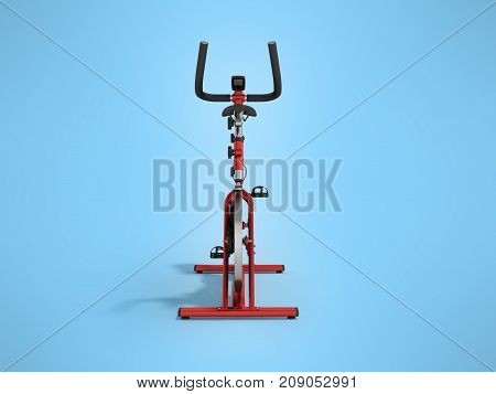 A Sports Bike Home Red In Front 3D Render On A Blue Background