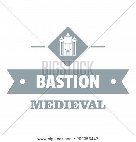 Victorian bastion logo. Simple illustration of victorian bastion vector logo for web