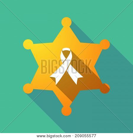 Long Shadow Sheriff Star With An Awareness Ribbon