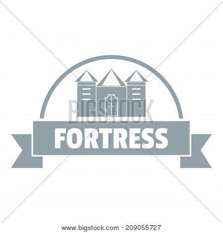 Emblem fortress logo. Simple illustration of emblem fortress vector logo for web