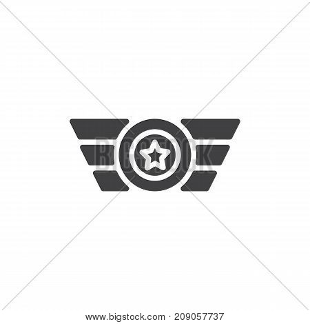 Rank shoulder straps icon vector, filled flat sign, solid pictogram isolated on white. Symbol, logo illustration.