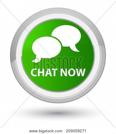Chat Now Prime Green Round Button