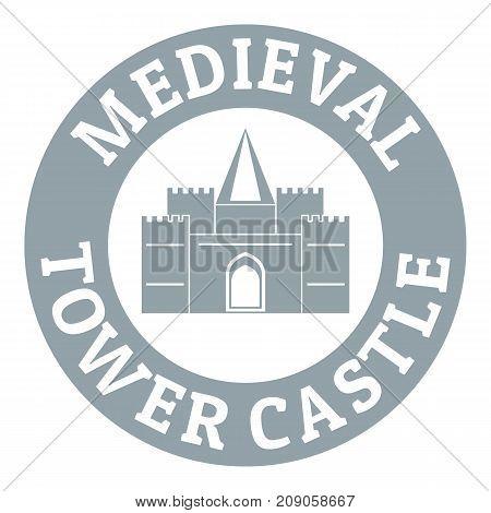 Tower castle logo. Simple illustration of tower castle vector logo for web