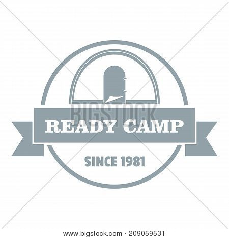 Ready camp logo. Vintage illustration of ready camp vector logo for web
