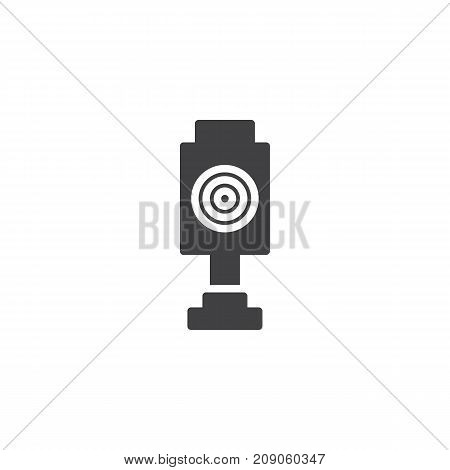 Shooting target icon vector, filled flat sign, solid pictogram isolated on white. Symbol, logo illustration.