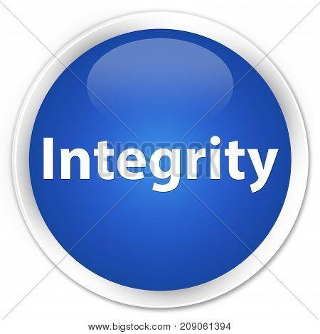 Integrity Premium Blue Round Button